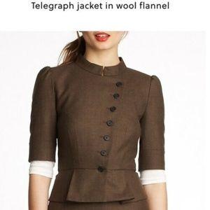 J.Crew Women Telegraph Jacket in Wool Flannel